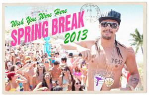 Spring Breakers Blu ray postcard
