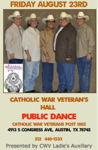 TX Wranglers CWV public dance 8.23.2013